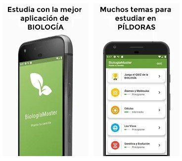 Biología Básica aplicación para móvil