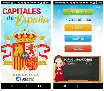 ESPAÑA - Juego de Ciudades Capitales
