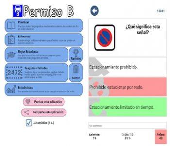 Examen teórico coche carnet B conducir España DGT