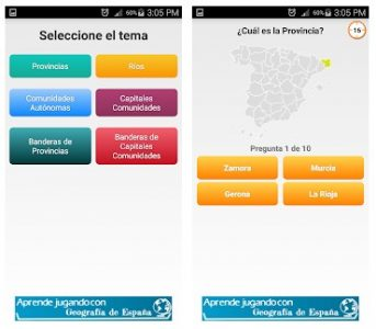 Geografía física y política española