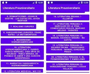 Literatura Preuniversitario app