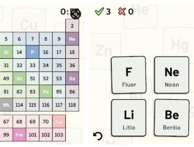 Quiz de la tabla periódica app